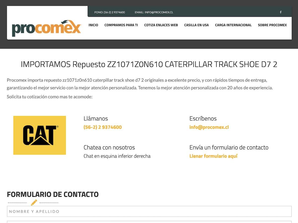 Landing Page Procomex | Pasillo Digital - SEO - URL Ampliada - Sitemap - Páginas Web - Sistemas Web